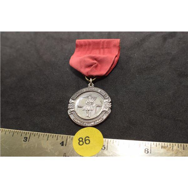 Sterling 1951 Highland Dance medal