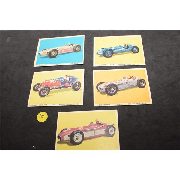 1960's Race Car cards
