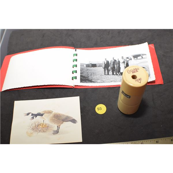 Book of photos and 45 rpm spindle