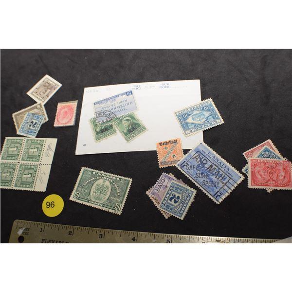 Unusual Canada stamps some Victoria