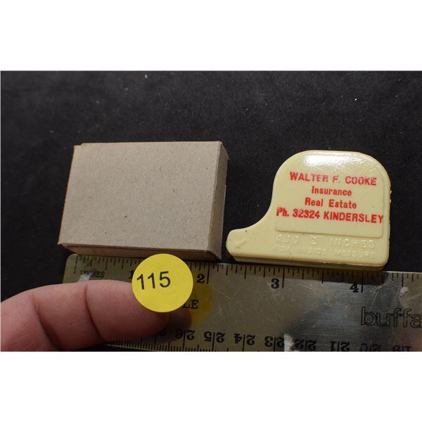 NOS Antique Kindersley tape measure