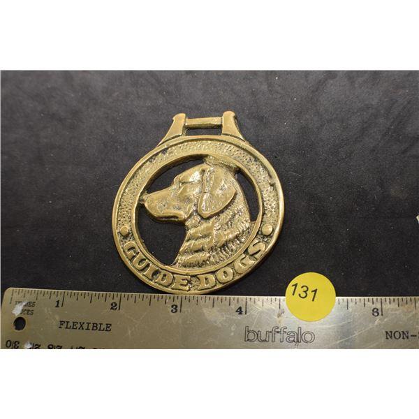 Guide dog brass FOB - medal