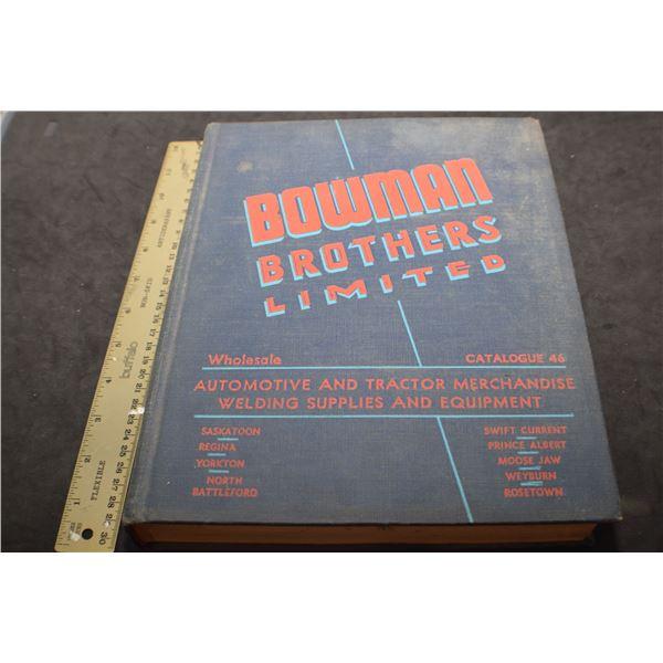 Bowman Bros. Catalog - Saskatchewan company