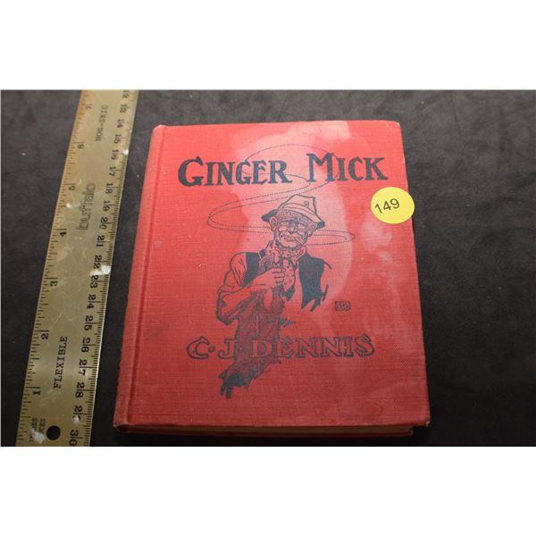 1916 WW 1 Ginger Mick book
