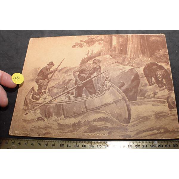Hunting scene notebook