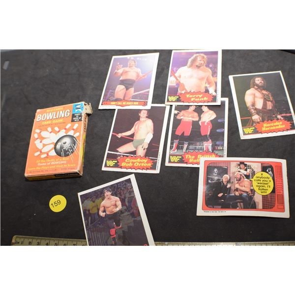 Bowling and WWF Wrestling cards