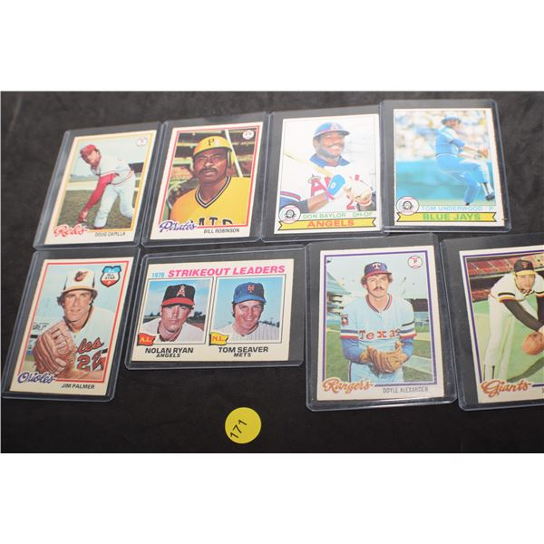 1970's EXC Baseball cards