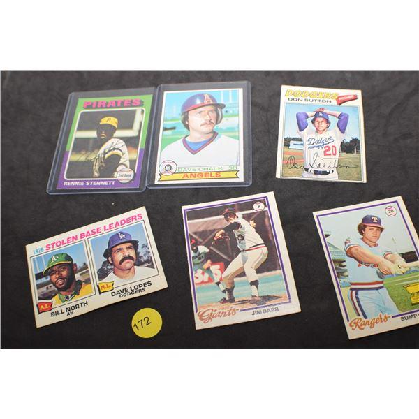 1970's misc. Baseball cards