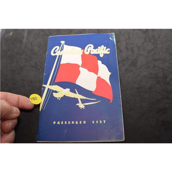 CP Steamship 1951 passenger list