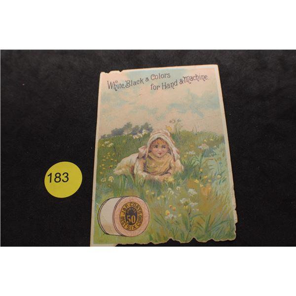 1887 Thread calendar card