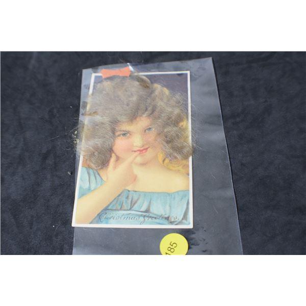 Rare Real Hair postcard