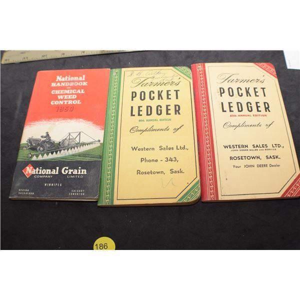 John Deere pocket ledgers