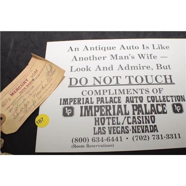 1949 Mercury Label etc.