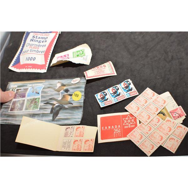 Unused Canadian stamps