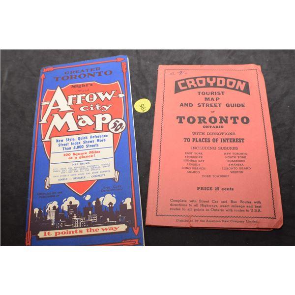 Antique Toronto maps