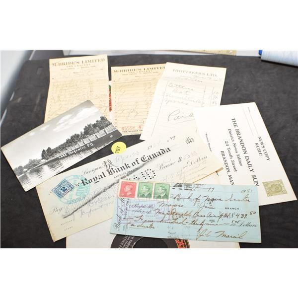 Paper lot and Trottier record (Bryan Trottier parents)