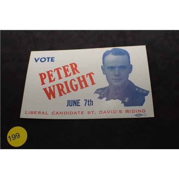 WW II Liberal campaign blotter