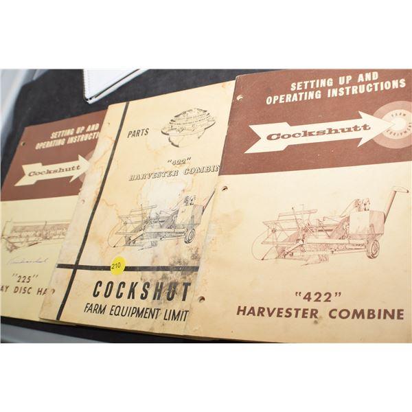 3 Vintage Cockshutt Farm Manuals
