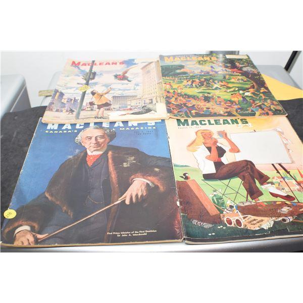 1940's 4 X MacLean's magazines
