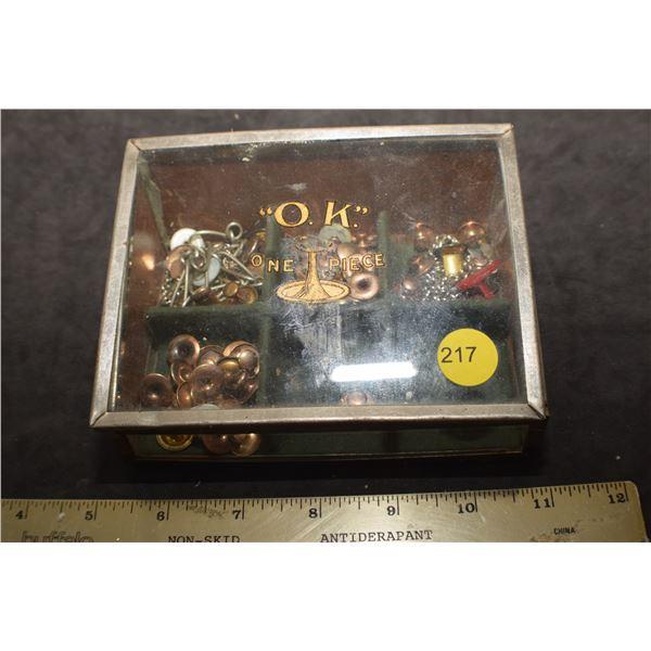 Antique O.K. Cufflinks in store box