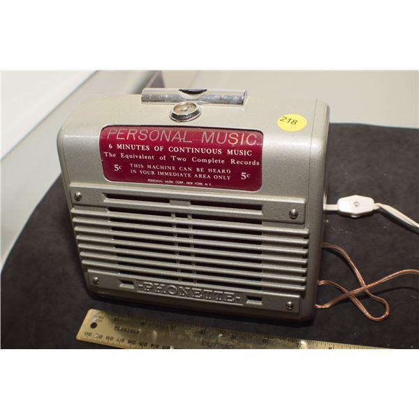 Antique Coin-op Jukebox remote? Light? Radio?