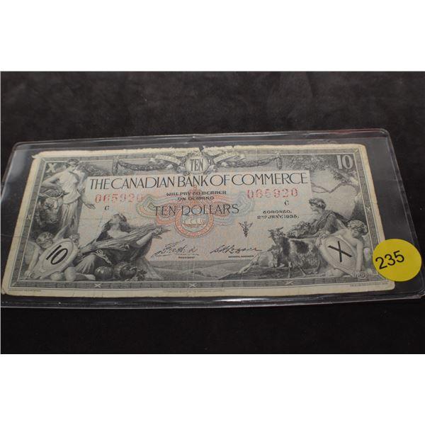 1935 Canada $10 bank note