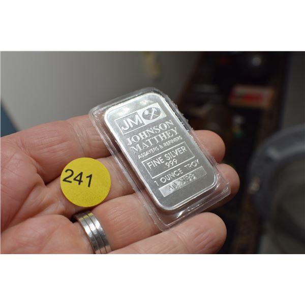 1 Troy oz Sterling Silver Bar