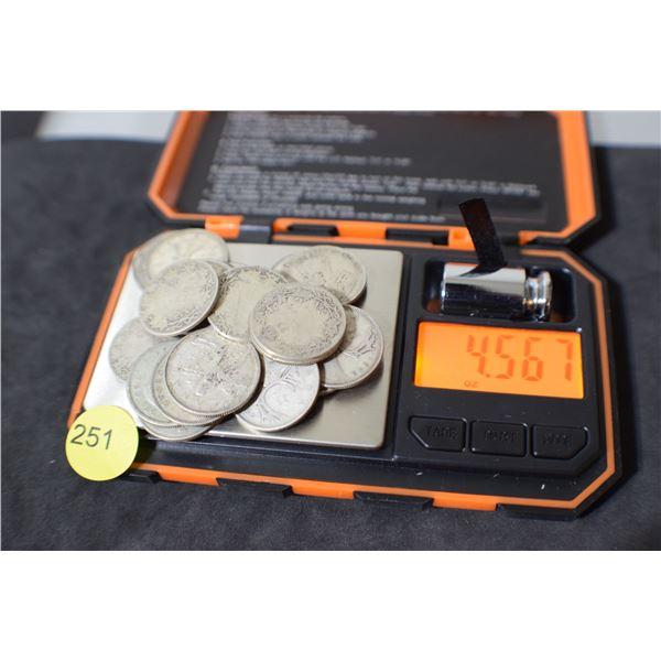 Scrap Canada Coin Silver (quarters) 4.56 oz
