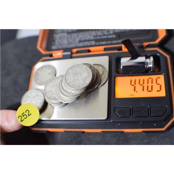 Scrap Canada Coin Silver (quarters) 4.40 oz