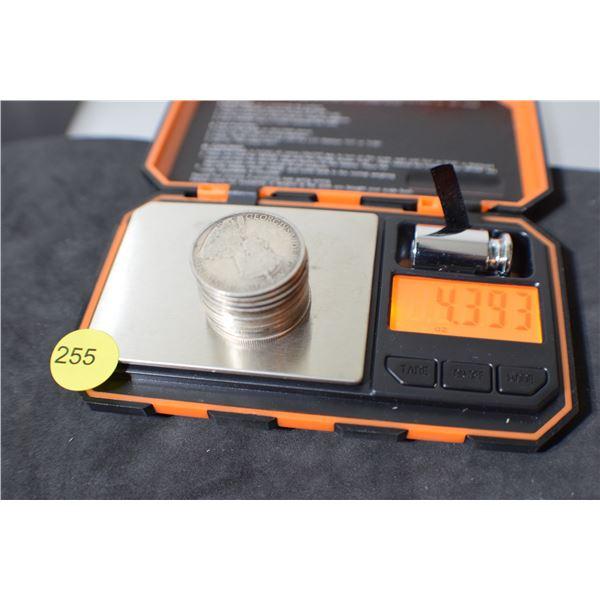 Scrap Canada Coin Silver (50 cent pieces) 4.39 oz