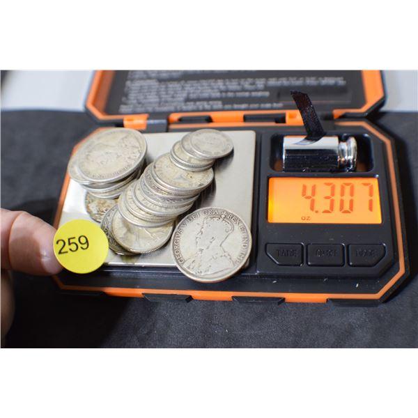 Scrap Canada Coin Silver (misc coins) 4.30 oz