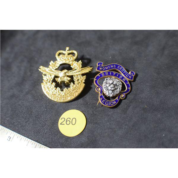 Military Badges/Women's Legion/RcAF
