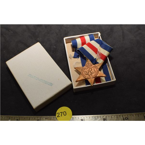 France Germany Star Medal/box
