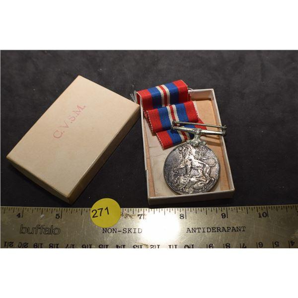 WW II British Medal/box/sterling