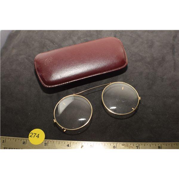 Antique Clip on Eye Sun glasses
