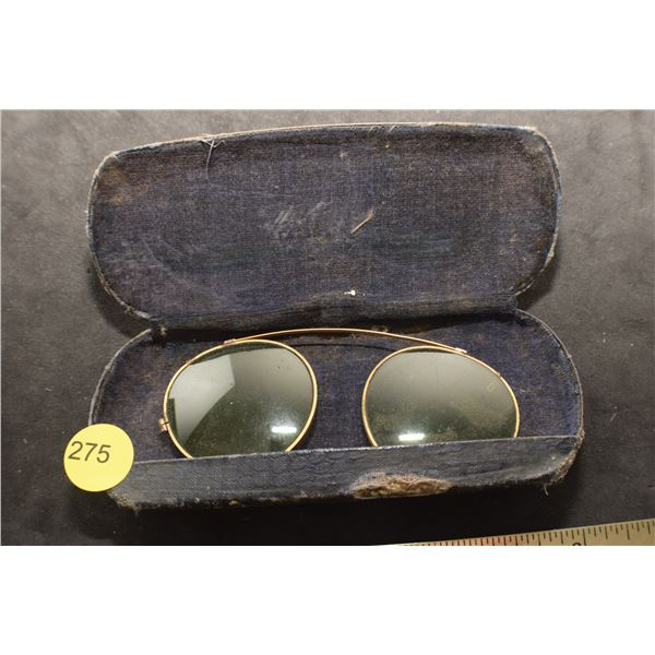 Antique Clip on Eye Glasses