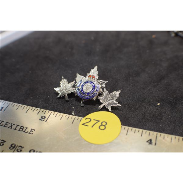 Sterling Canadian Army Service Pin