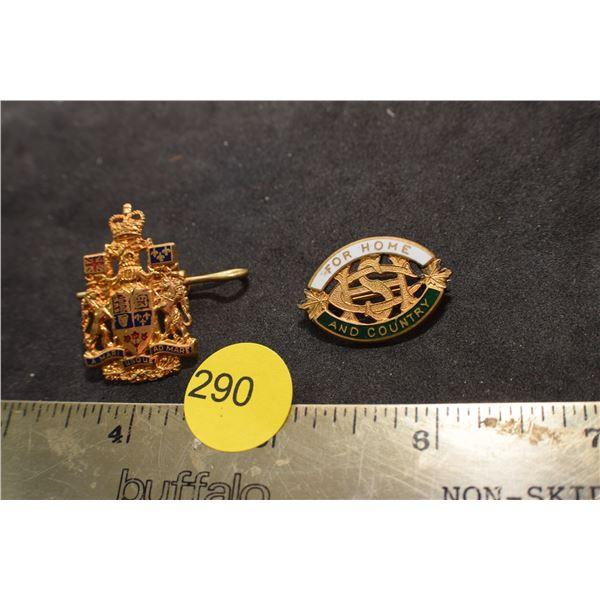 2 X Military pins