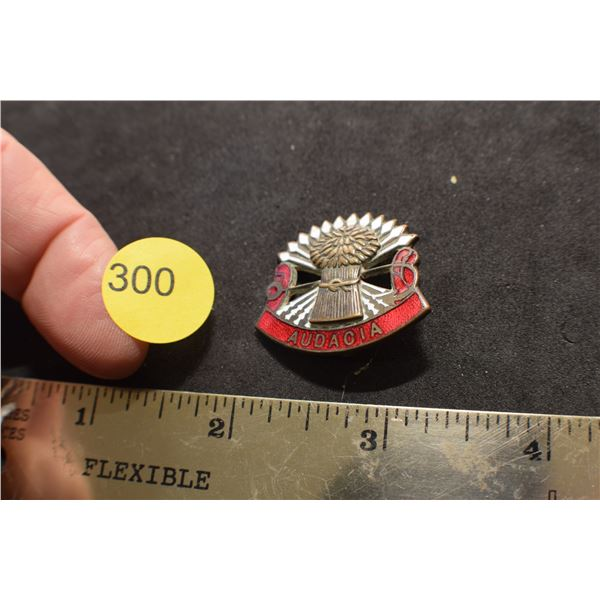 Sterling Audacia pin