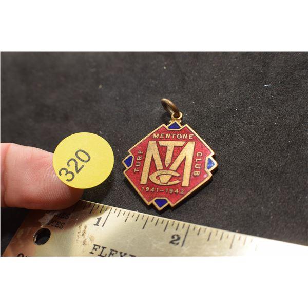 WW II era Turf Club pin