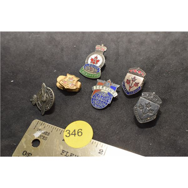 Service pins