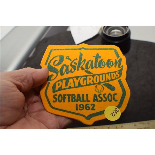 NOS Saskatoon Softball Patch