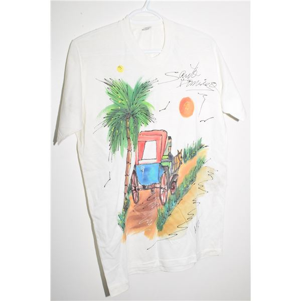 Vintage hand painted shirt large