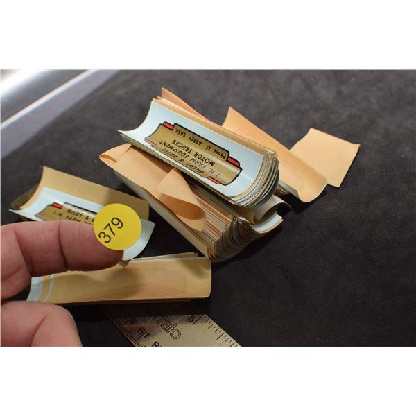Antique Silk screen 1-H Dealer labels McCoy