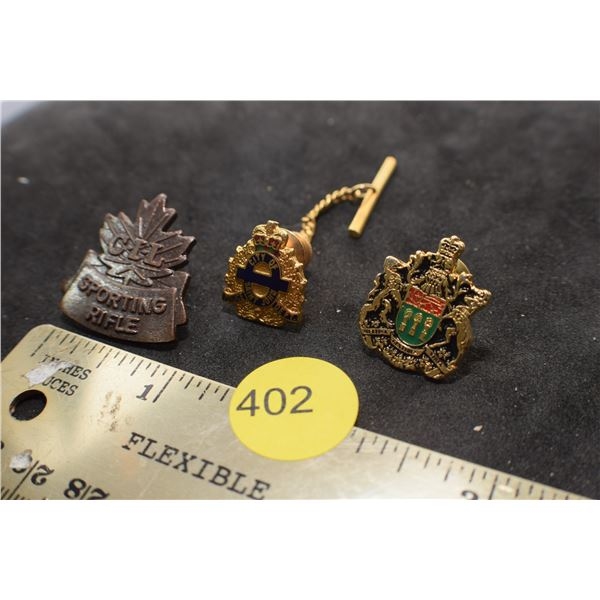 Police pins & CIL shooting pin