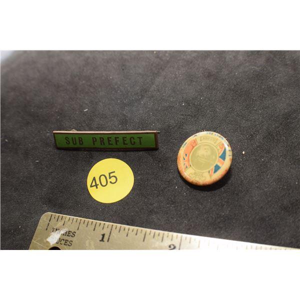 WW I British pins