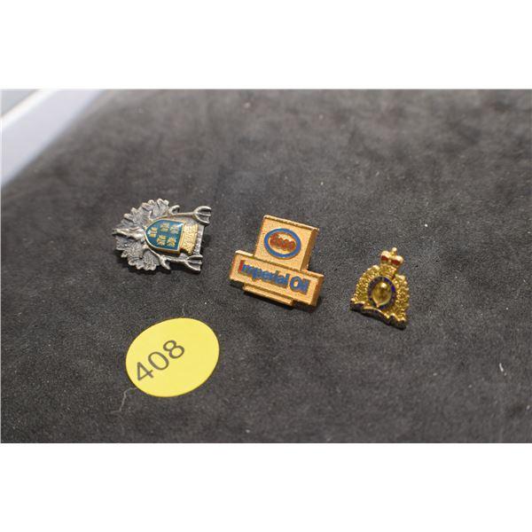 RCMP, Jägermeister hunting pin, Esso pin