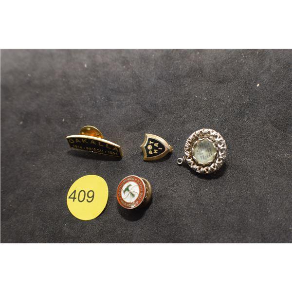 Railway pin prison pin etc.