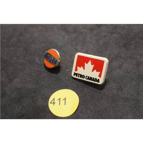 Gulf & Petro Can pins