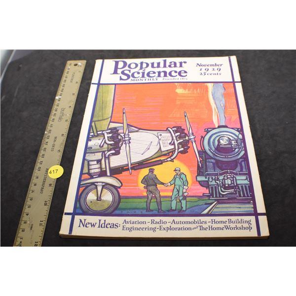 Clean 1929 Popular Science